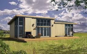 shed roof homes efficient custom hybrid pre fab home plans
