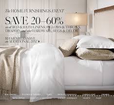 restoration hardware save 20 60 on all bed u0026 bath linens