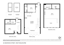used car floor plan 44 anderson street west melbourne townhouse for sale jellis craig