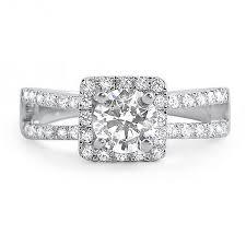 1 carat halo engagement ring 1 carat halo split shank cz engagement ring jewelure