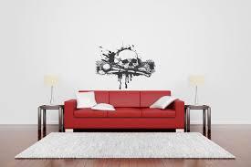 wall vinyl sticker decal mural design art scull with bones