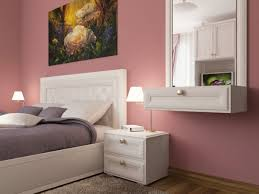 Dusty Pink Bedroom - dusky pink headboard white wall paint colours walls dorm youth