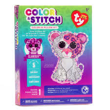 ty beanie boo color pillow kit leopard walmart