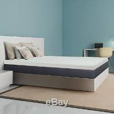 short queen size 4 inch deluxe rv memory foam mattress bedding pad
