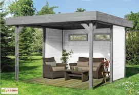 tonnelle de jardin en bois tonnelle bois toit plat plus parois tonnelle bois toit