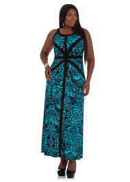 plus size maxi dress in paisley print from ashley stewart plus