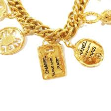 chunky necklace charms images Authentic vintage chanel gold plated motif chunky charm bracelet jpg