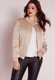 plus size light jacket plus size silk bomber jacket missguided australia