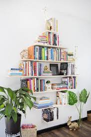 Build Your Own Bookcase Wall 20 Creative Ways To Make Your Own Shelves Brit Co