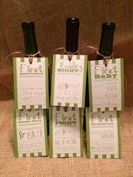 bridal shower wine basket set of 6 bridal shower wine basket gift tags striped tags