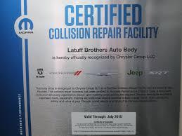 lexus certified body shop chrysler latuff brothers auto body