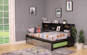 kids beds renell twin bookcase daybed u0026 trundle af 37225t 4 ba