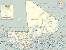 Desert Map Map Of Mali Africa Sahara Desert Travel Africa