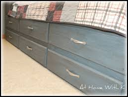 Kids Beds With Storage Underneath Remodelaholic Blue Kids Bed Guest