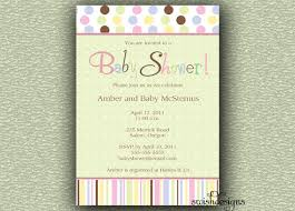 baby shower invitation gender neutral polka dots stripes