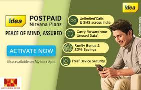 idea plans idea postpaid online bill pay postpaid bill payment offers