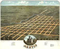Map Of Austin Birdseye View Of Austin Minnesota 1870