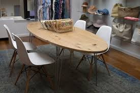 mid century oval dining table reclaimed white pine oval dining table grain control mid century
