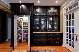 Black Glass Cabinet Doors Appealing Glass Door Cabinet On Light Brown Ing Black Kitchen
