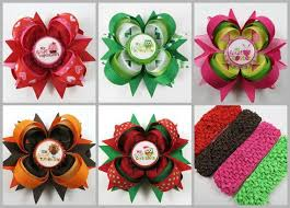 thanksgiving hair bows new baby hair bow gift set newborn ohsoprettybyasia