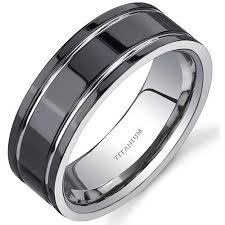 mens titanium wedding band mens black titanium wedding rings titanium mens wedding bands