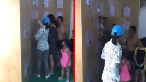 parents shut baby in changing room locker to go for a swim