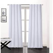 White Curtain Panel Soho 84 In L Polyester Layer Lined Rod Pocket Window