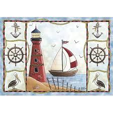 Lighthouse Bathroom Rugs Custom Printed Rugs Lighthouse Lighthouse Rug Kitchen