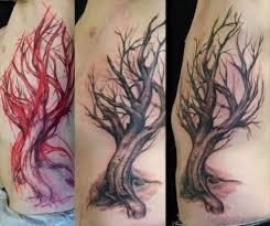 76 tree tattoos on rib