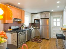 kitchen contemporary orange kitchen accent wall decor with grey