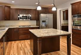 Kitchen Cabinets Stain Colors by Lr12 Azalea Floor Plan Mission Two Panel Style Cabinets In