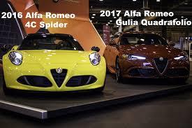 alfa romeo spider 2017 2016 alfa romeo 4c u0026 2017 alfa romeo gulia quadrafolio houston