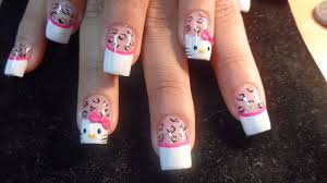 hello kitty nail art designs u2013 acrylic nail designs