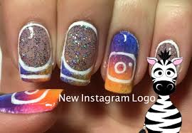 new instagram logo nail art design tutorial youtube