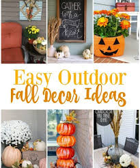 Outdoor Fall Decor Ideas - diy rustic fall decor ideas second chance to dream