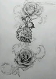 Locket Tattoo Ideas Top 25 Best Rose And Butterfly Tattoo Ideas On Pinterest Flower