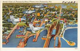 Pensacola Florida Map by Aerial View Of Pensacola Navy Planes Over Pensacola Florida