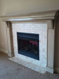 Paint Tile Fireplace by Ascp Painted Tile She Also Used Ascp To Paint Her Wood Mantle