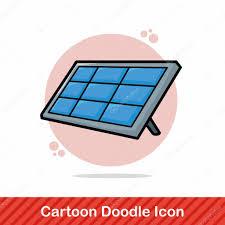 solar panels clipart solar panel doodle vector illustration u2014 stock vector