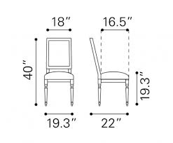 dining room chair standard dimensions euskal and standard dining