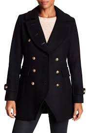 trina turk flavia short wool blend military coat nordstrom rack