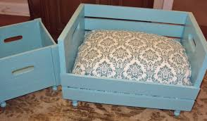 upcycled pet bed combo bed and toy box wood crate gift 2 for 1