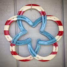 horseshoe wreath horseshoe wreath patriotic horseshoes american flag