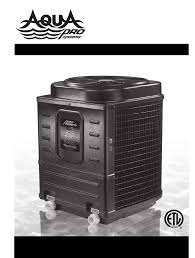 aquapro swimming pool heater pro1300 user guide manualsonline com