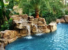 pools with waterfalls gunite swimming pools