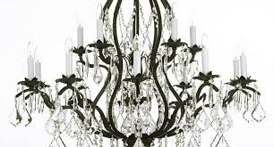 Chandelier Wrought Iron Crystal Chandelier Pleasant Wrought Iron