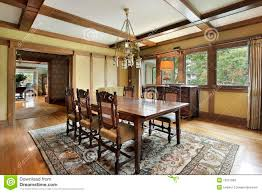 dining room with wood beam ceilings stock photos image 19321903