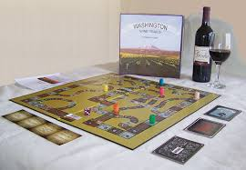 amazon com 1 x washington wine trails board game kitchen u0026 dining