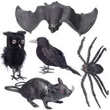 amazon com halloween home decoration 5 pc set u2013 1 black feathered