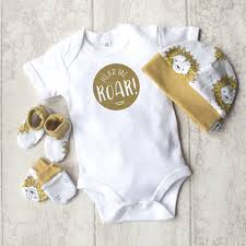 baby gift sets baby gift set lion hear me roar by mini a notonthehighstreet